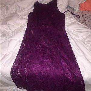 Nordstrom Plum ankle length halter dress!